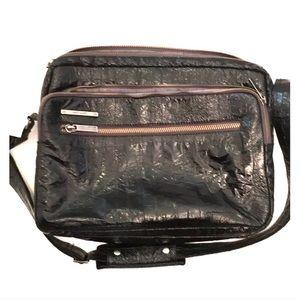 Vegan eel skin black Matt & Nat laptop bag